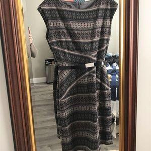Donna Ricco Patterned Dress